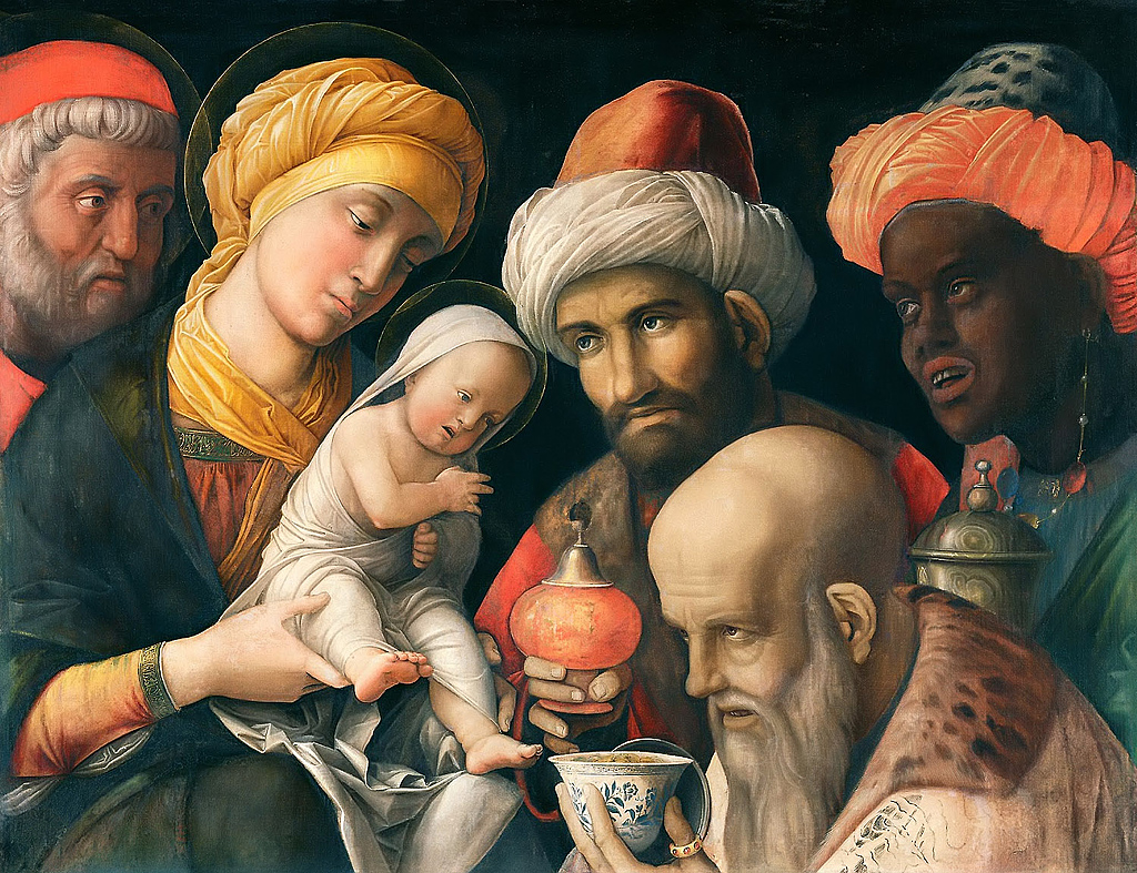 Adoration of the Magi by  Andrea_Mantegna.