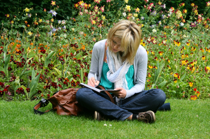 spring reading (purchased istock photo)