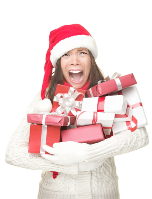 woman feeling holiday stress
